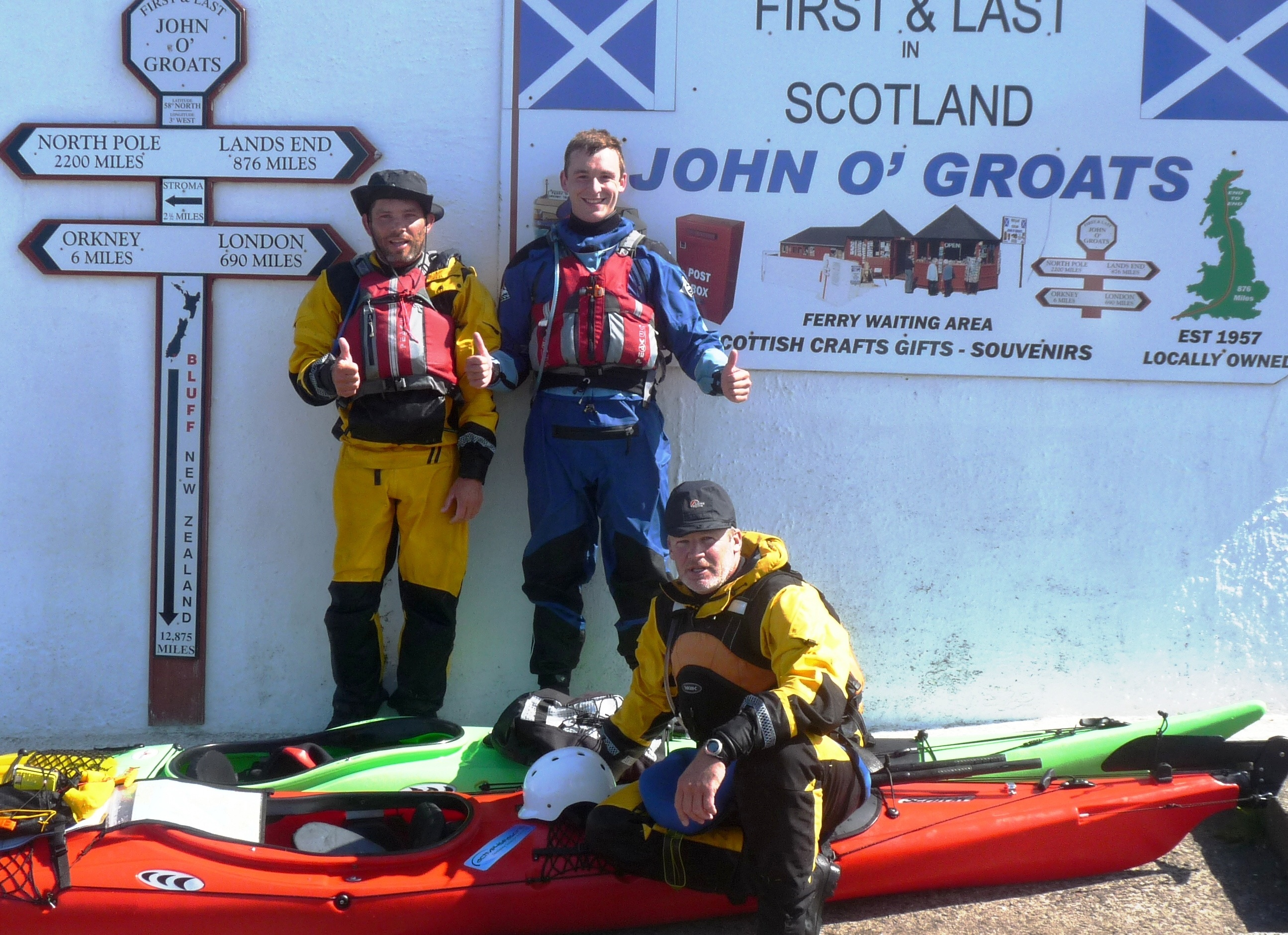 A shot after our successful paddle to the Orkney Island of South Ronaldsay and back via Hoy!